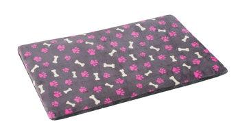 Plain mat O'lala pets grijs met roze pootjes