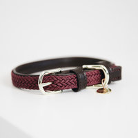 Halsband Kentucky gevlochten nylon bordeaux